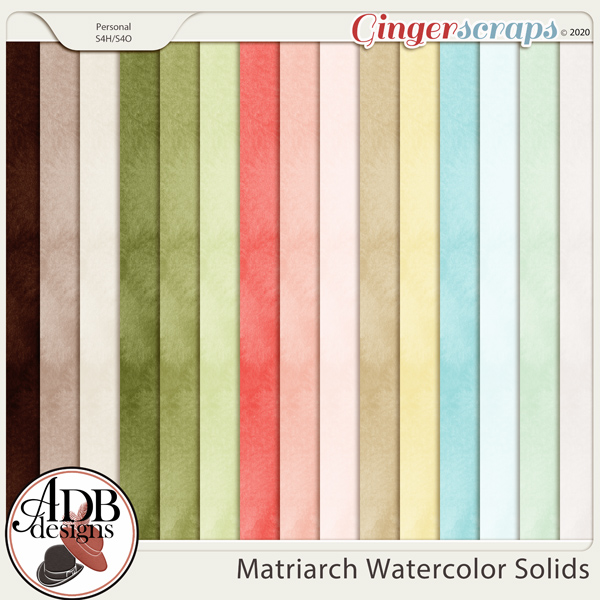 Matriarch Watercolor Solid Papers by ADB Designs