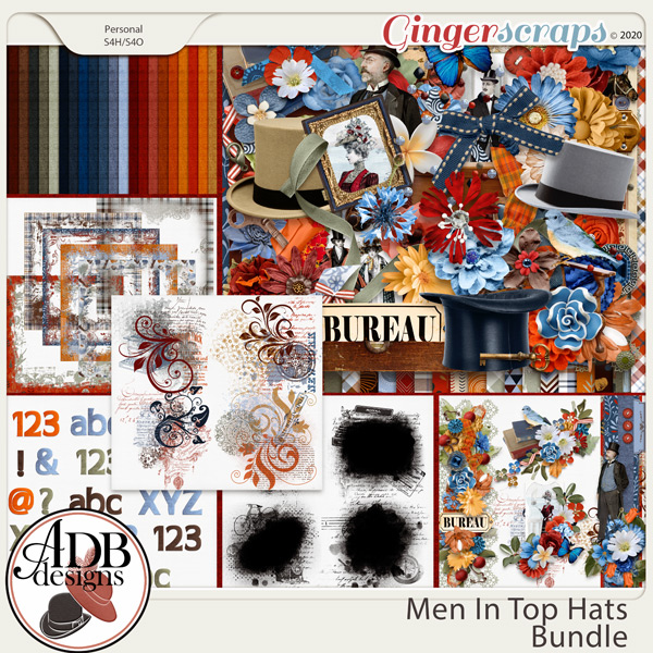 Men in Top Hats Bundle by ADB Designs