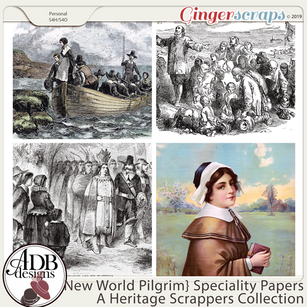 New World Pilgrim Specialty Papers by ADB Designs