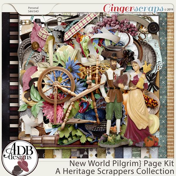 New World Pilgrim Page Kit by ADB Designs
