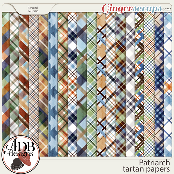 Patriarch Pattern Papers by ADB Designs
