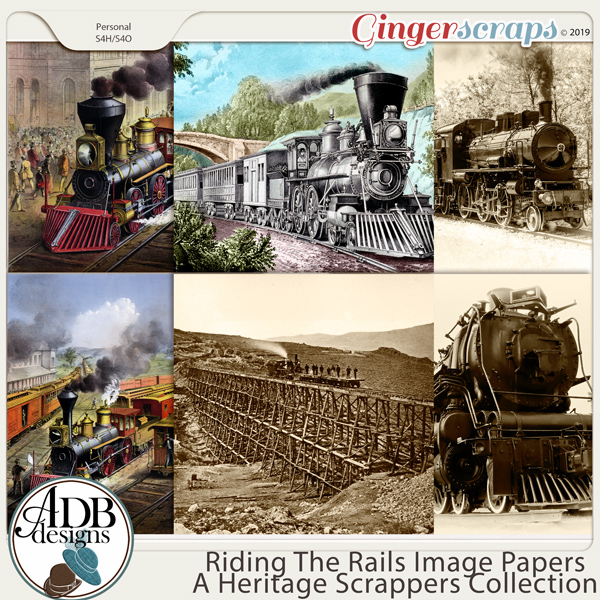 Riding the Rails Specialty Papers by ADB Designs