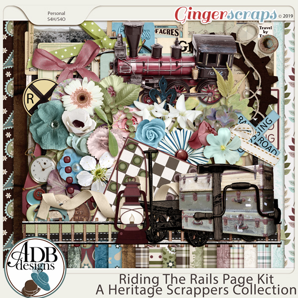 Riding the Rails Page Kit by ADB Designs