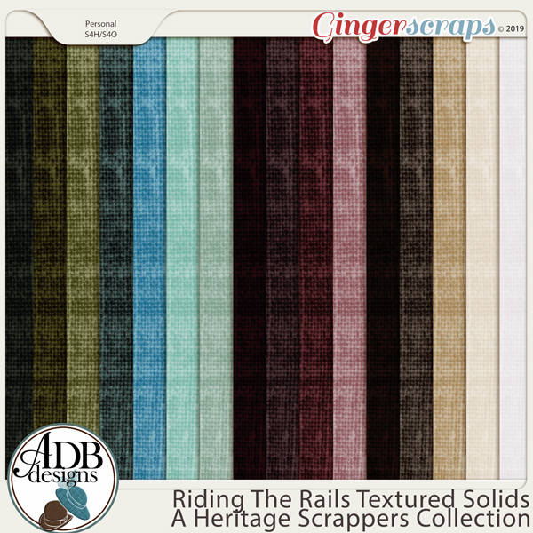 Riding the Rails Solid Papers by ADB Designs