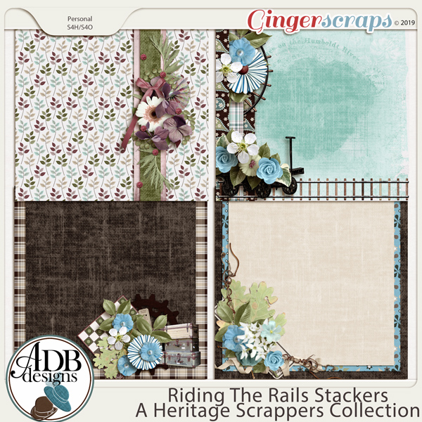 Riding the Rails Stackers by ADB Designs