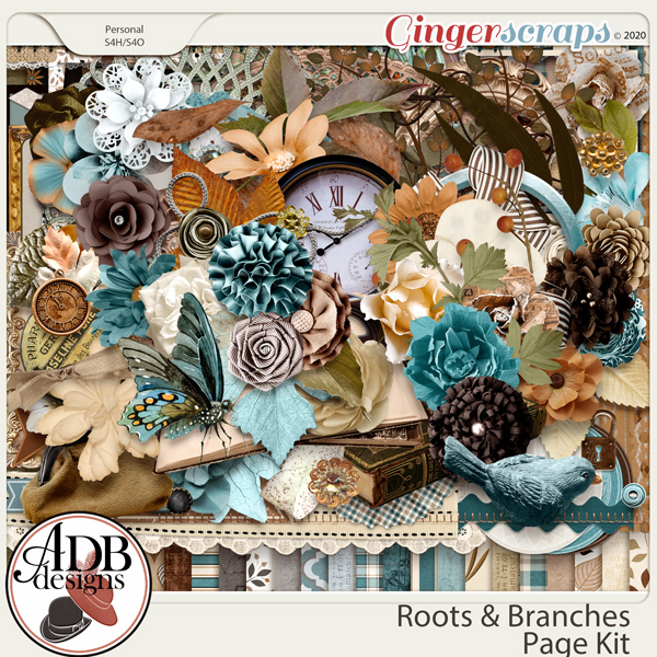Roots and Branches Page Kit by ADB Designs