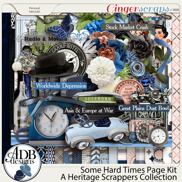 Some Hard Times Page Kit by ADB Designs