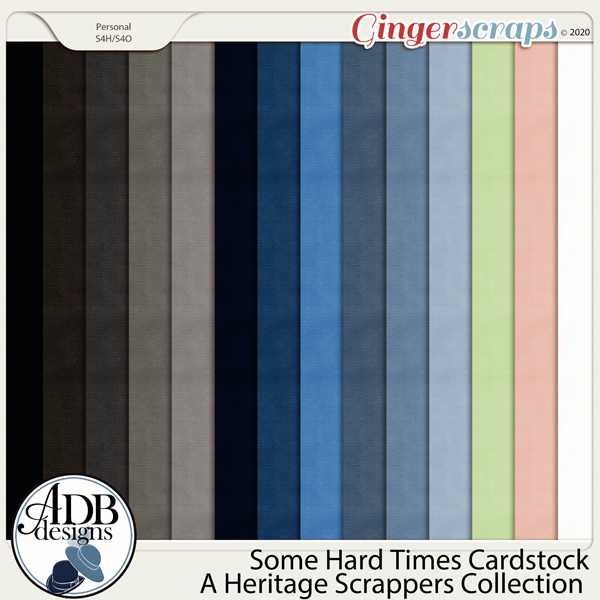 Some Hard Times Cardstock Solids by ADB Designs