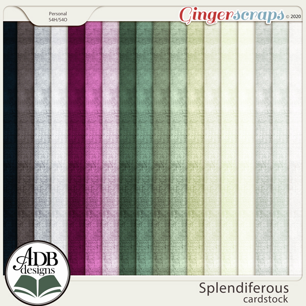 Splendiferous Solid Papers by ADB Designs