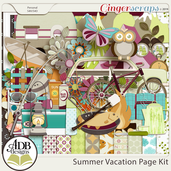 Summer Vacation Page Kit by ADB Designs