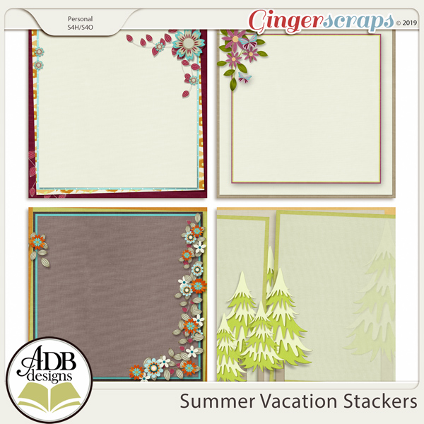Summer Vacation Stackers by ADB Designs