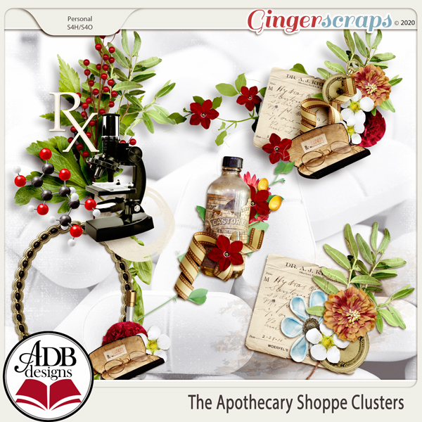 The Apothecary Shoppe Clusters by ADB Designs