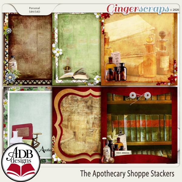 The Apothecary Shoppe Stackers by ADB Designs