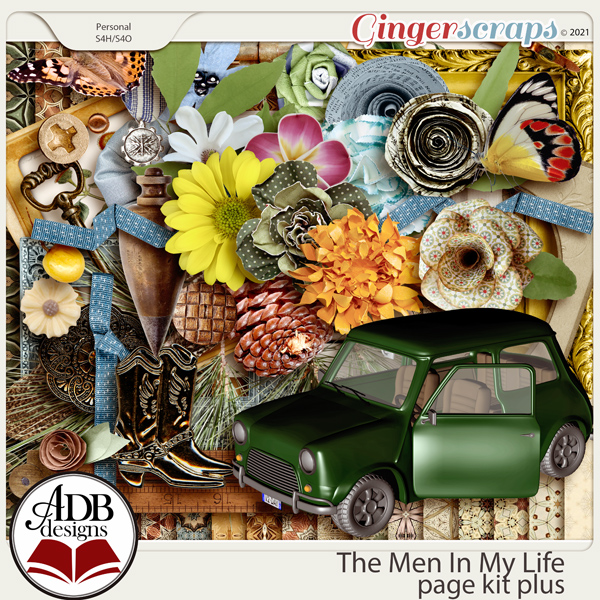 The Men in My Life Page Kit Plus by ADB Designs