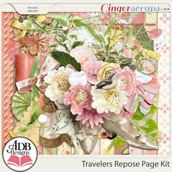 Travelers Repose Page Kit by ADB Designs