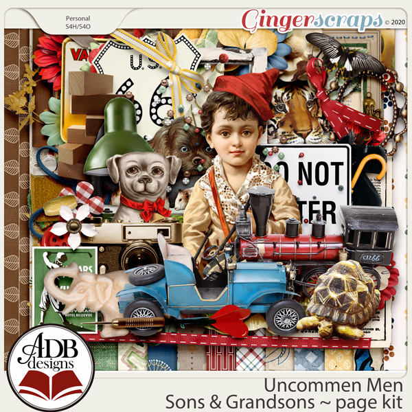 Uncommon Men - Sons & Grandsons Page Kit by ADB Designs