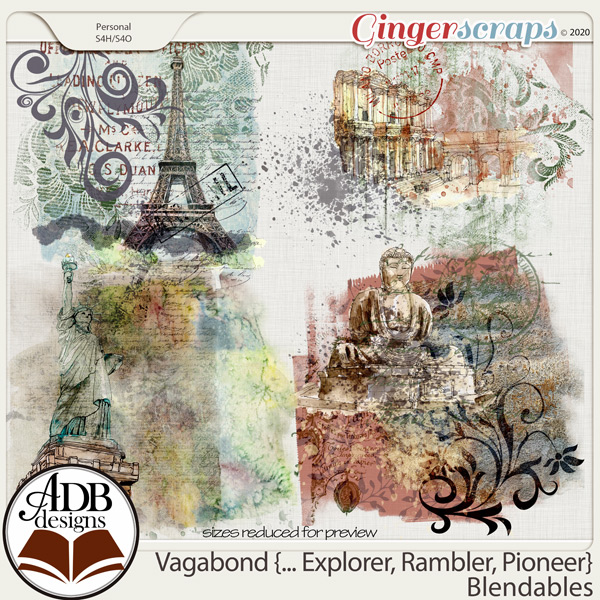 Vagabond, Explorer, Rambler, Pioneer Blendables by ADB Designs