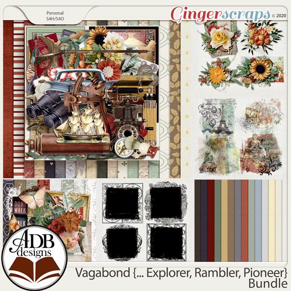 Vagabond, Explorer, Rambler, Pioneer Bundle by ADB Designs