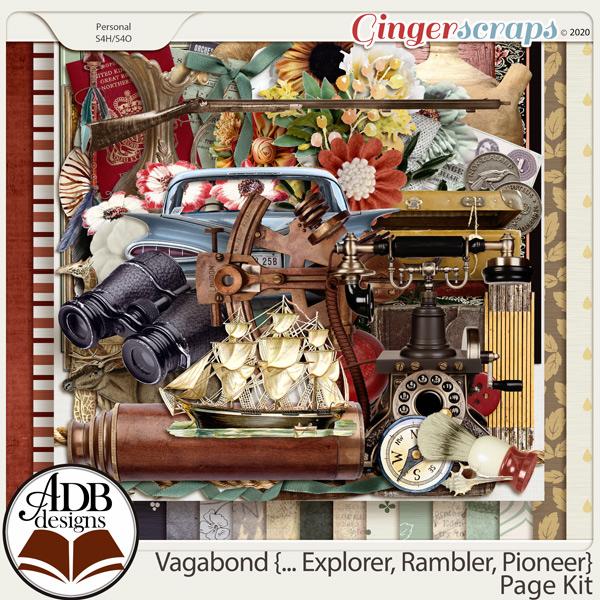 Vagabond, Explorer, Rambler, Pioneer Page Kit by ADB Designs