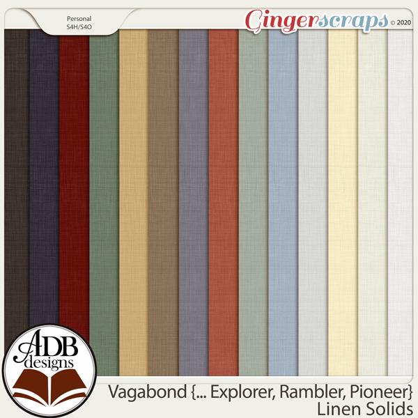 Vagabond, Explorer, Rambler, Pioneer Cardstock Solids by ADB Designs