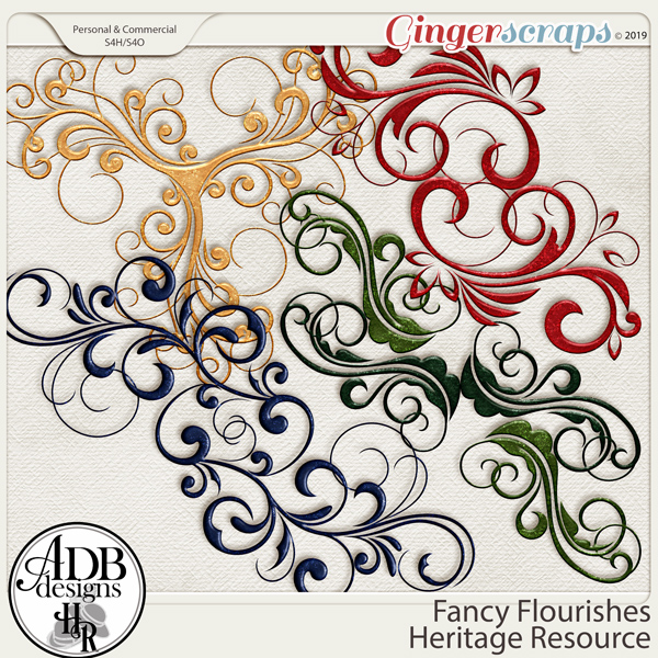 Heritage Resources CU Fancy Flourishes by ADB Designs