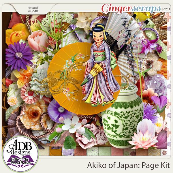 Akiko Page Kit {DOTW - Japan} by ADB Designs