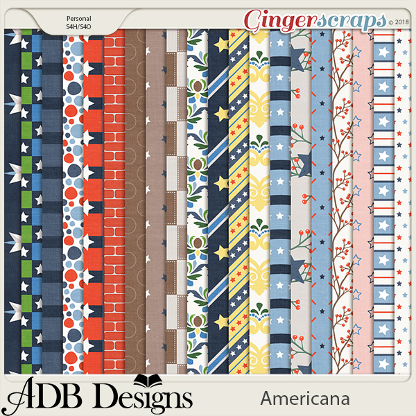 Americana Country Pattern Papers