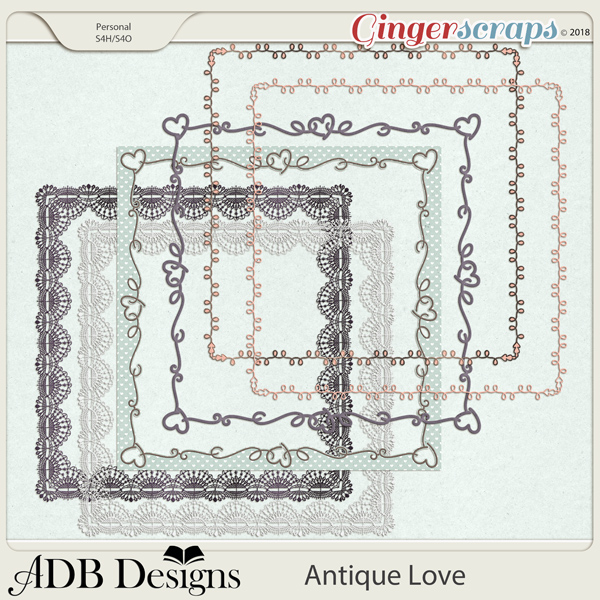 Antique Love Page Borders