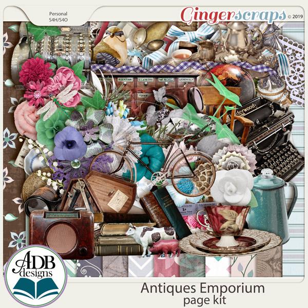 Antiques Emporium Page Kit by ADB Designs
