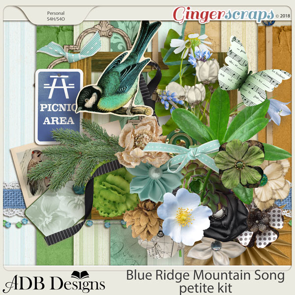 Blue Ridge Mountain Song Petite Kit by ADB Designs