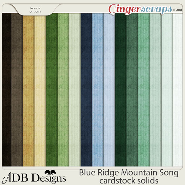 Blue Ridge Mountain Song Cardstock Solids by ADB Designs
