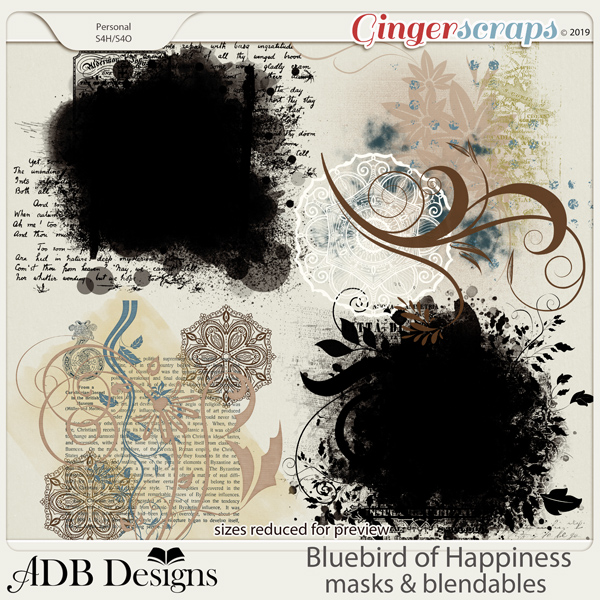 Bluebird of Happiness Masks and Blendables by ADB Designs