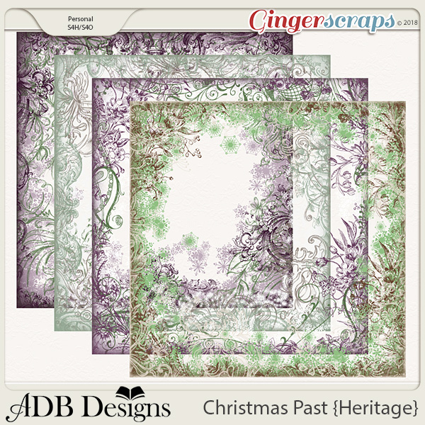Christmas Past Page Borders
