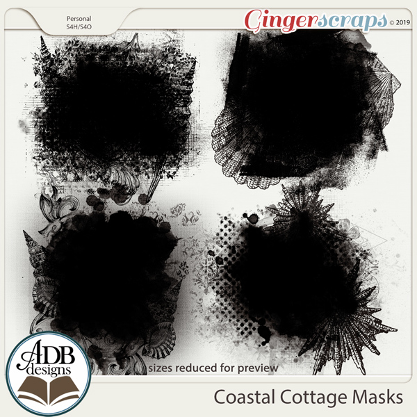 Coastal Cottage Masks by ADB Designs