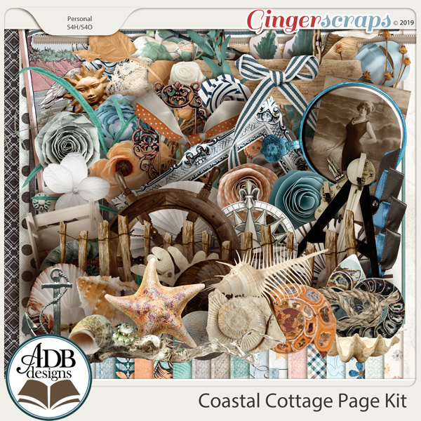 Coastal Cottage Page Kit by ADB Designs