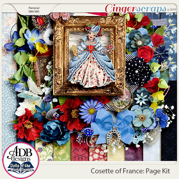 Cosette Page Kit {DOTW France} by ADB Designs