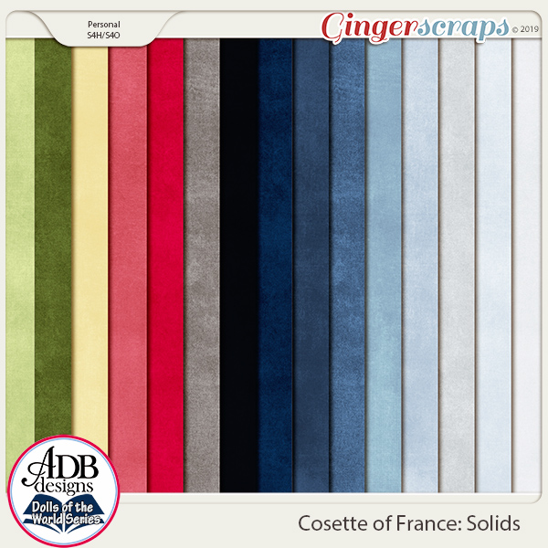 Cosette Solids {DOTW France} by ADB Designs