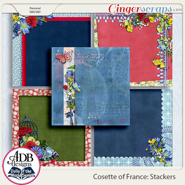 Cosette Stacked Papers {DOTW France} by ADB Designs