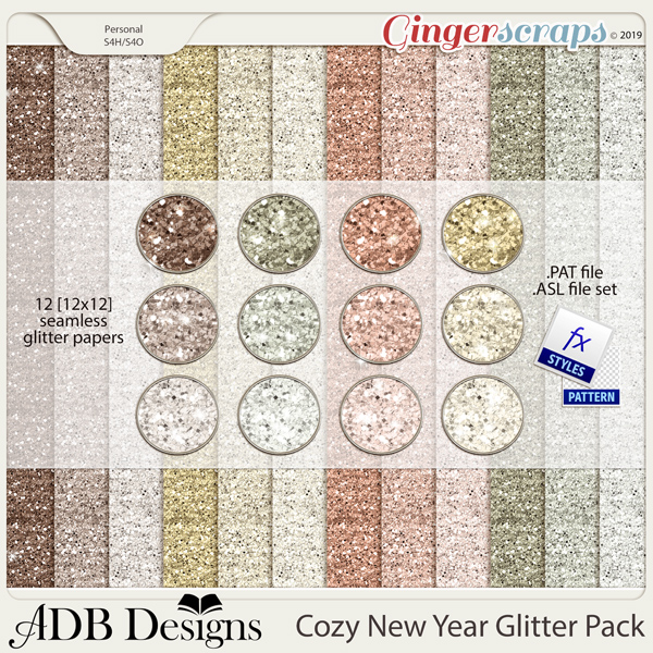 Cozy New Year Glitter Pack by ADB Designs