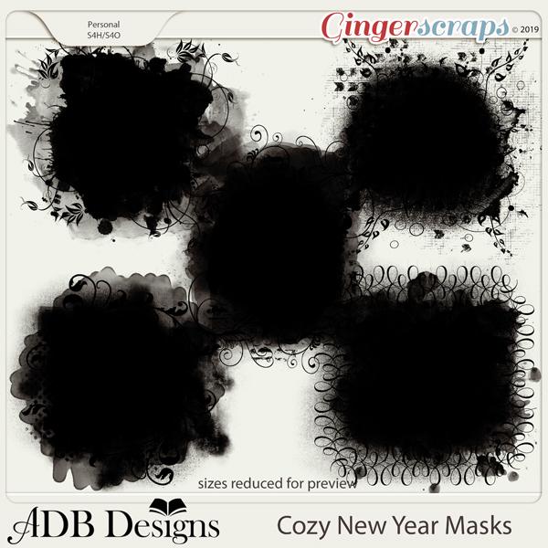 Cozy New Year Masks by ADB Designs