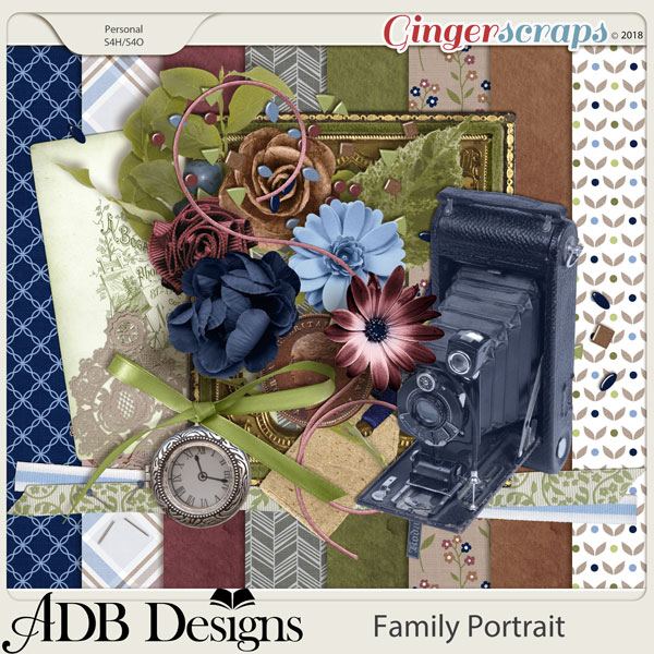 Family Portrait Page Kit by ADB Designs