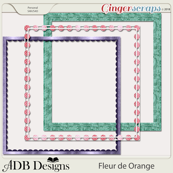 Fleur de Orange Page Borders