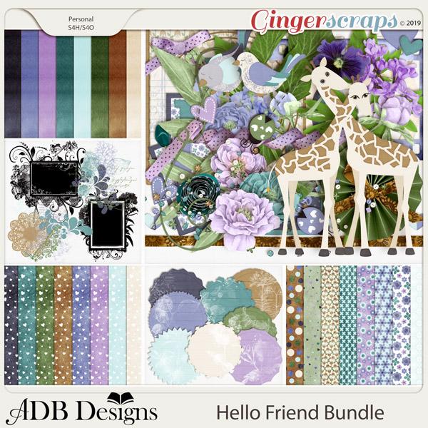 Hello Friend Bundle by ADB Designs