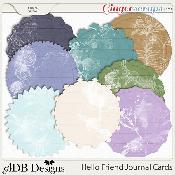 Hello Friend Journal Cards by ADB Designs
