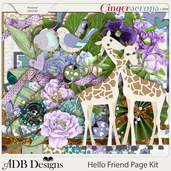 Hello Friend Page Kit by ADB Designs