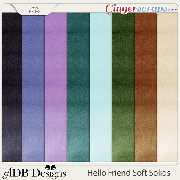 Hello Friend Solid Papers by ADB Designs