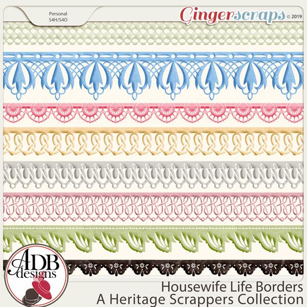 Housewife Life Borders by ADB Designs