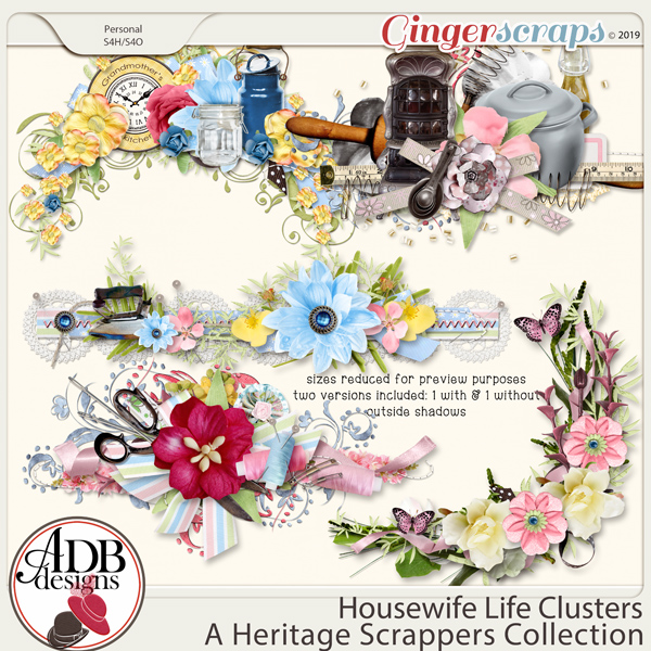 Housewife Life Clusters by ADB Designs
