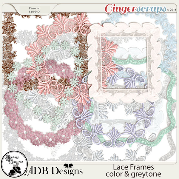 Heritage Resource - Lace Frames by ADB Designs