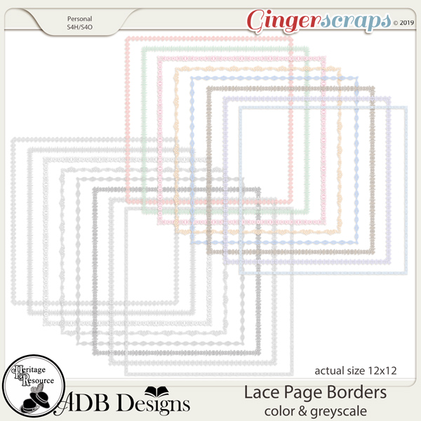 Heritage Resources Lace Page Borders by ADB Designs